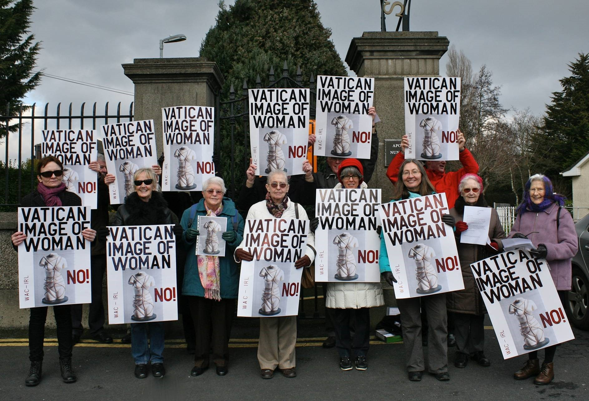 We Are Church Ireland protests about unacceptable image of women
